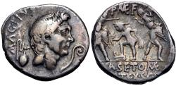 Ancient Coins - The Pompeians. Sextus Pompey. 37/6 BC. AR Denarius (19.5mm, 3.77 g, 11h). Uncertain Sicilian mint,