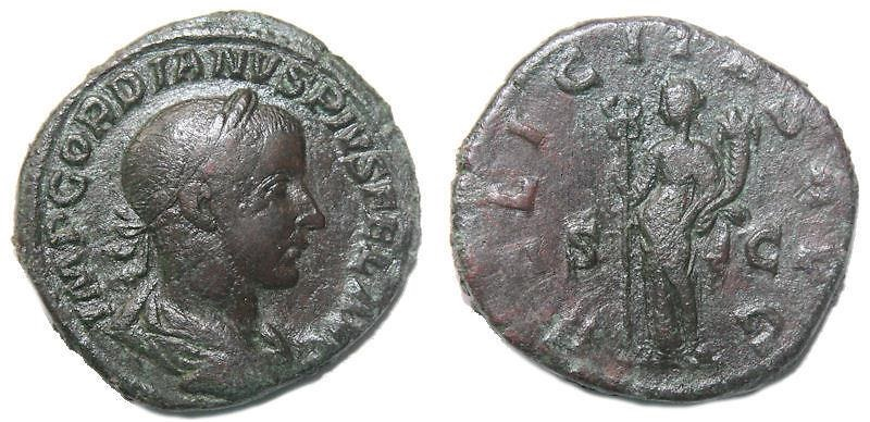 Ancient Coins - Gordian III AE Sestertius 238-244 AD, Rome Mint,