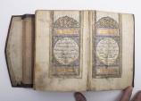 World Coins - Illuminated Arabic Manuscript Koran Book. Complete KORAN. 305 leaves (610 pages)