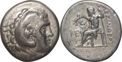Ancient Coins - Alexander III Tetradrachm Silver coin 336-323 BC.