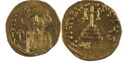 Ancient Coins - Constans II. 641-668. AV Solidus (20mm, 4.39 g). Constantinople mint, 6th officina.