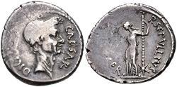 Ancient Coins - The Caesarians. Julius Caesar. February-March 44 BC. AR Denarius (17mm, 3.64 g, 4h). Lifetime issue.