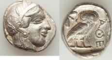 Ancient Coins - ATTICA. Athens. Ca. 440-404 BC. AR tetradrachm (17.28 gm). Choice VF.