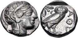 Ancient Coins - ATTICA, Athens. Circa 454-404 BC. AR Tetradrachm (24.5mm, 17.17 g, 8h).