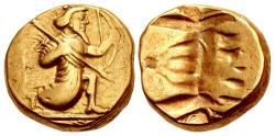 Ancient Coins - PERSIA, Alexandrine Empire. temp. Stamenes – Seleukos. Satraps of Babylon, circa 328-311 BC. AV gold Double Daric