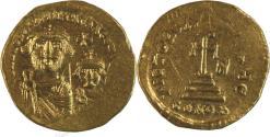 Ancient Coins - Heraclius, with Heraclius Constantine. 610-641. AV Solidus (21mm, 4.45 g)
