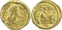 Ancient Coins - BYZANTINE EMPIRE: Justinian I, 527-565, AV semissis (17mm, 2.00g), Constantinople,