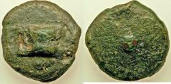 Ancient Coins - Anonymous. Ca. 280 BC. AE aes grave uncia (25mm, 27.06 gm). Fine. Rome mint.