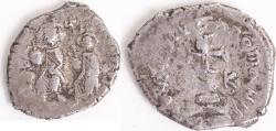 Ancient Coins - HERACLIUS, with Heraclius Constantine. 610-641 AD. AR Hexagram (23mm, 6.75 gm)