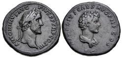 Ancient Coins - Antoninus Pius, with Marcus Aurelius as Caesar. AD 138-161. Æ Sestertius (34mm, 24.74 g, 11h).
