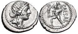 Ancient Coins - The Caesarians. Julius Caesar. Late 48-47 BC. AR Denarius (19mm, 3.93 g, 6h)