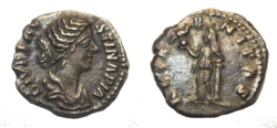 Ancient Coins - DIVA FAUSTINA SENIOR, wife of Antoninus Pius. Died 141 AD