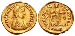 Ancient Coins - Valentinian III. AD 425-455. AV Solidus (22mm, 4.34 g, 6h). Ravenna mint. Struck AD 426-430/455.