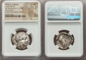 Ancient Coins - ATTICA. Athens. Ca. 440-404 BC. AR tetradrachm (25mm, 17.21 gm, 10h). NGC Choice XF 5/5
