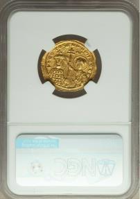 Ancient Coins - John I Tzimisces (AD 969-976). AV histamenon nomisma (23mm, 4.34 gm, 7h). NGC AU 3/5 - 3/5