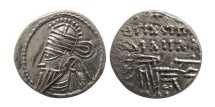 Ancient Coins - PARTHIAN EMPIRE. Osroes II. Circa AD 190-208. AR Drachm. Ekbatana mint. Choice Superb EF.