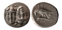 MOESIA, Istros. Circa 4th Century BC. AR Drachm.
