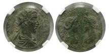 Ancient Coins - CILICIA, Seleuceia. Treb. Gallus. AD. 251-253. AE 35mm. NGC-Choice AU (Strike 4/5; Surface 4/5).