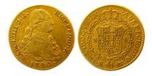 Ancient Coins - SPAIN. Carlos IV. 1788-1808. Gold 2 Escudos. 1790, Madrid mint.