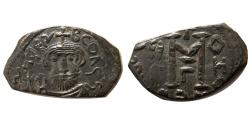 Ancient Coins - BYZANTINE EMPIRE. Constans II. 641-668 AD. Æ Follis. Syracuse mint.