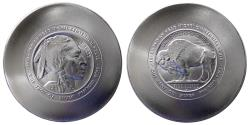 World Coins - UNITED STATES. Daniel Carr. 2013 Indian Head Nickel Centennial, One Troy Oz. Silver Round