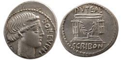 Ancient Coins - ROMAN REPUBLIC. L. Scribonius Libo. 62 BC. Silver Denarius. Lovely strike.