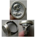 World Coins - Caracalla.  A custom-made Sterling Silver Cameo  Ring