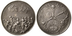 Ancient Coins - GERMANY. Baruq by P.H. Muller. Ca. 1700. Silver Medal.