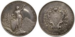 World Coins - SWITZERLAND. Shooting Festival Medal. ca. 19th. Century. Silver Medallion.