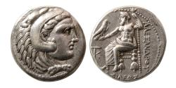 Ancient Coins - KINGS of MACEDON. Alexander III. 336-323 BC. AR Tetradrachm. Kition mint.