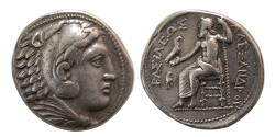 Ancient Coins - KINGS of MACEDON. Philip III. 323-317 BC. AR Tetradrachm. Amphipolis, Ca. 322-320 BC. Struck in the name of Alexander III.