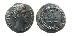 Ancient Coins - ROMAN EMPIRE. Augustus. Circa 25-22 BC. AR Denarius. Colonia Patricia mint.