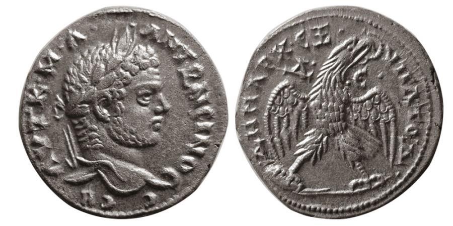 Ancient Coins - SYRIA, Seleucis & Pieria. Caracalla. AD 198-217. AR Tetradrachm.