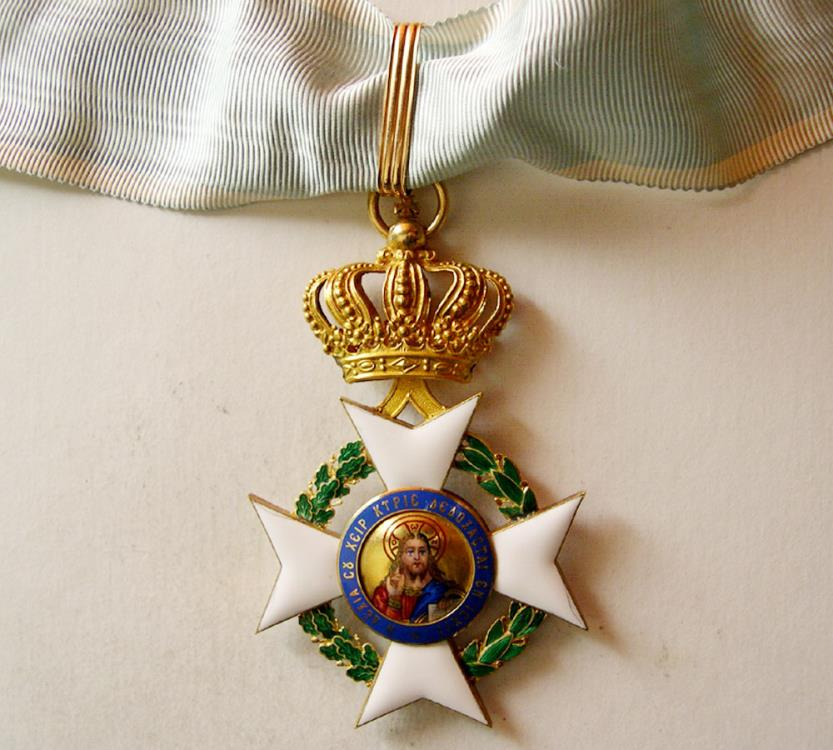 World Coins - GREECE. The Order of the Redeemer, Commander's Cross. 18K. Gold with hand-painted enamel. Rare