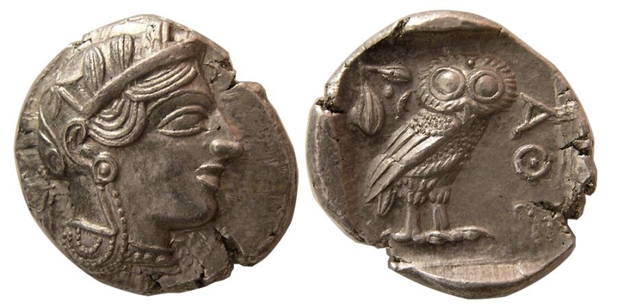 Ancient Coins - ATTICA, Athens. 440-404 BC. Silver Tetradrachm. Sharply struck. Choice FDC.