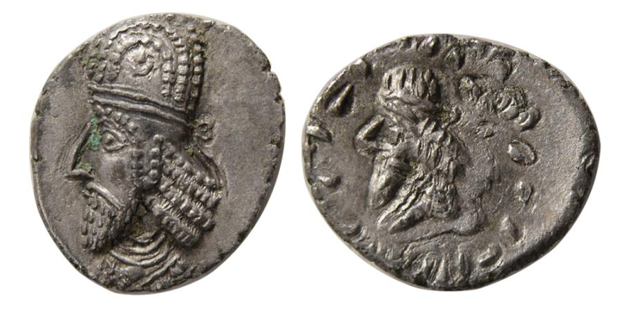 Ancient Coins - KINGS of PERSIS. Napad (Kapat). 1st century AD. AR Drachm.