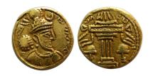 Ancient Coins - SASANIAN KINGS. Yazdgard I. AD. 399-420. Gold Heavy Dinar. Very rare. From The Sunrise Collection.