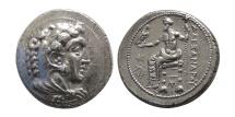 Ancient Coins - KINGS of MACEDON. Alexander III. 336-323 BC. AR Tetradrachm. Myriandros or Issos mint. Struck under Menes or Philotas,