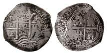 World Coins - SPANISH COLONIAL, Philip IV. 1621-1665. AR 8 Reales. dated 1658E, two dates.