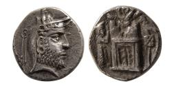 Ancient Coins - KINGS of PERSIS. Uncertain King I. 2nd century BC. AR Hemidrachm. Extremely Rare.
