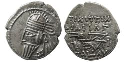 Ancient Coins - KINGS of PARTHIA. Vologases VI. AD. 207/8-221/2. AR Drachm