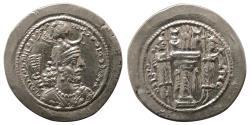 Ancient Coins - SASANIAN KINGS. Yazdgard I. AD 399-420. Silver Drachm. AS(Aspanvar or Asuristan) mint. Nice style.