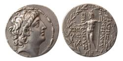 Ancient Coins - SELEUCID KINGS; Antiochos VIII. 121-96 BC. AR Tetradrachm. Damascus mint. Year 194 (119/18 BC)