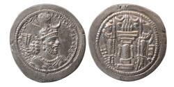 Ancient Coins - SASANIAN KINGS. Yazdgard I. AD 399-420. Silver Drachm. Mint: AS (Asuristan, Ctesiphon Region).