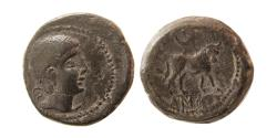 Ancient Coins - SPAIN, Castulo. Early 2nd century BC. Æ Semis.