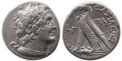 Ancient Coins - PTOLEMAIC KINGS. Cleopatra III and Ptolemy IX Soter II. 132-131 BC. AR Tetradrachm.