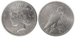 World Coins - UNITED STATES. 1922. Peace Dollar. Choice UNC.