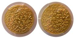 Ancient Coins - ISLAMIC DYNASTIES. SELJUQS of RUM. The Three Brothers. AH 648. Gold Dinar. PCGS- MS63.
