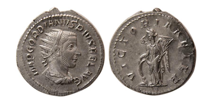 Ancient Coins - ROMAN EMPIRE, Gordian III. AD. 238-244. AR Antoninianus.