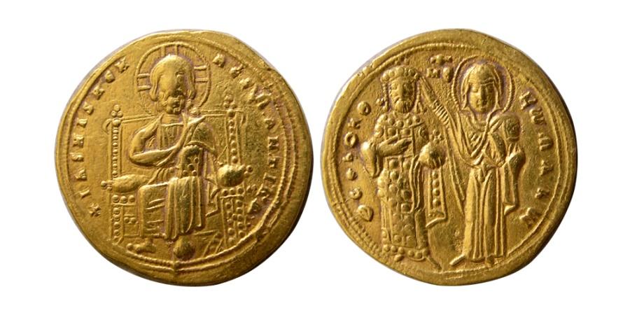 Ancient Coins - BYZANTINE EMPIRE. Romanus III. 1028-1034 AD. AV Histamenon Nomisma